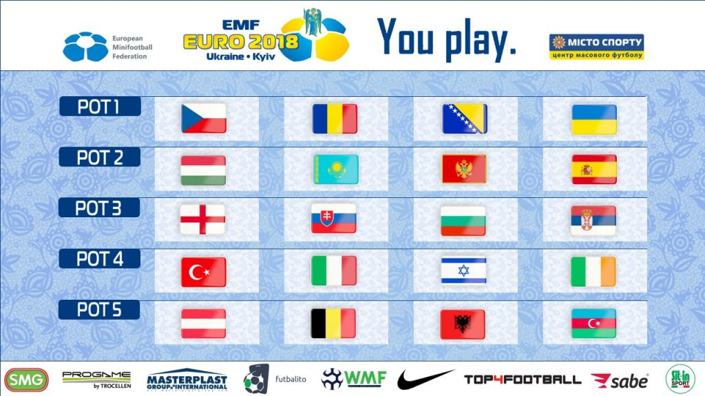 EMF EURO 2018 Kijev Ukrajina žreb bobni
