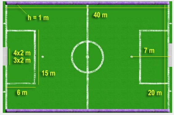 MZS Za Prvaka Slovenije 2018 mere igrišča mali nogomet 40x20m goli 4x2 ali 3x2