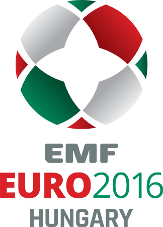 Logotip EMF EURO 2016 Madžarska Szekesfehervar